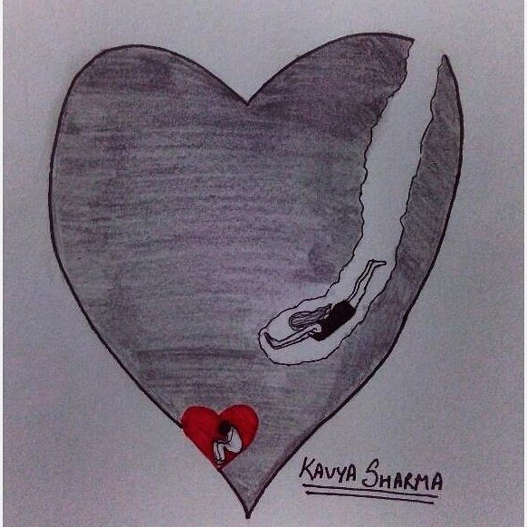 Whenever she dives into her heart, she always finds him in the deepest corner.